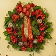 Floral Home Decor Amarylis 28'' Christmas Wreath