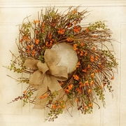 Floral Home Decor 24'' Bittersweet Berry Wreath