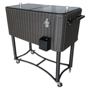 Permasteel 80 Qt. Wicker Patio Rolling Cooler
