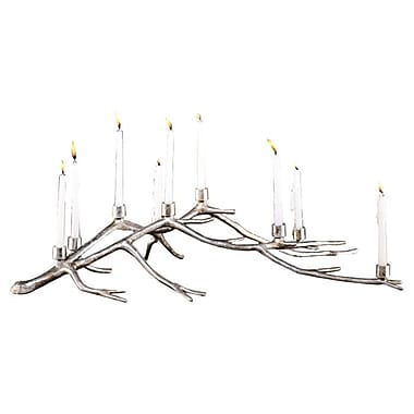 SPI Home Branch Centerpiece Sculpture Aluminum Candelabra