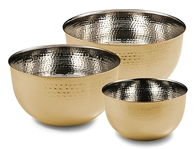 Cambridge 3 Piece Mixing Bowl Set; Gold