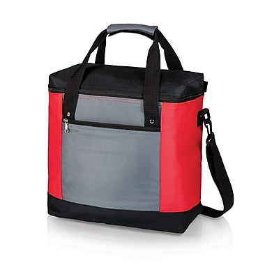 Picnic Time 20 Can Montero Tote Cooler; Red / Gray