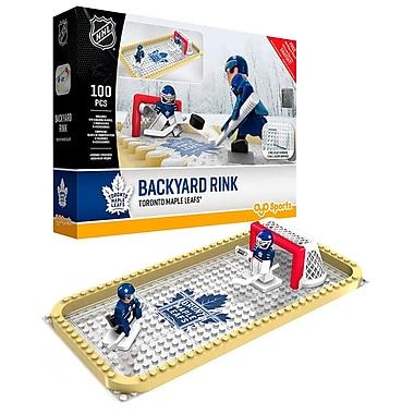 Patinoire de la LNH : Ensemble de blocs de construction aux couleurs des Maple Leafs de Toronto