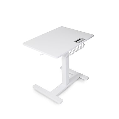 FitDesk Sit-to-Stand Adjustable Desk, White (FD2050)