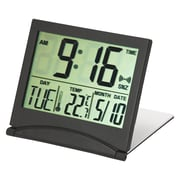 Kiera Grace HO87566-2 Flip Travel Alarm Clock, Black