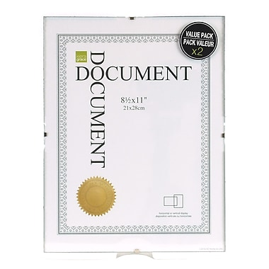 Kiera Grace Ph30410 0 Clip Document Frame 85 X 11 2pack Staples