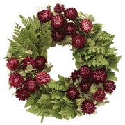 Floral Treasure Home Garden Wreath; 10'' H x 10'' W x 3.5'' D