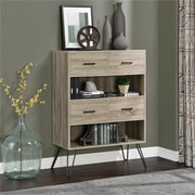Altra Landon Bookcase with Bins, Gray (9654096PCOM)