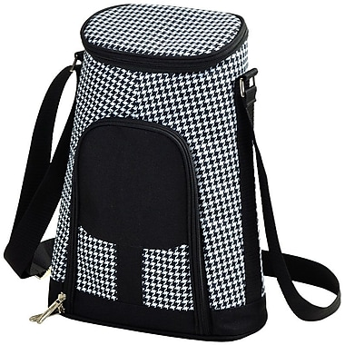 Picnic At Ascot 2 Can Houndstooth Insulated Wine Tote Cooler