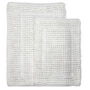 Homewear Linens Pamenta 2 Piece Bath Rug Set; White