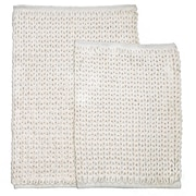 Homewear Linens Marina 2 Piece Bath Rug Set; Ivory