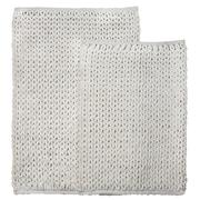 Homewear Linens Marina 2 Piece Bath Rug Set; White