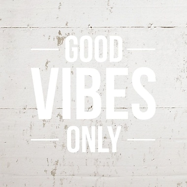Innovative Stencils Good Vibes Only Wall Decal; Matte White