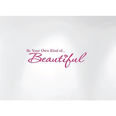 Innovative Stencils Be Your Own Kind of Beautiful Vinyl Wall Decal; Pink
