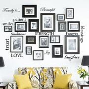 Innovative Stencils 12 Family Quote Words Vinyl Wall Decal; Black