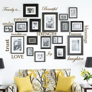 Innovative Stencils 12 Family Quote Words Vinyl Wall Decal; Brown