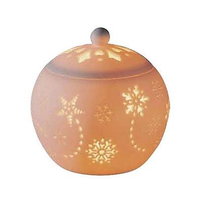 DonnieAnn Company Snowflake Porcelain Lantern; Natural