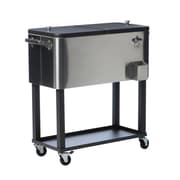 Trinity 80 Qt. Stainless Steel Rolling Cooler w/ Cover