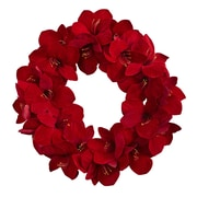 Nearly Natural 22'' Amaryllis Wreath