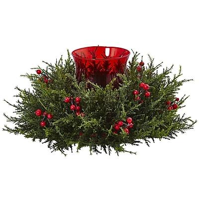 Nearly Natural Cedar Berry Candelabrum WYF078280047347