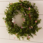 Nearly Natural Kennith 22'' Boxwood Wreath