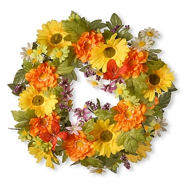 National Tree Co. Fabric 18'' Floral Wreaths