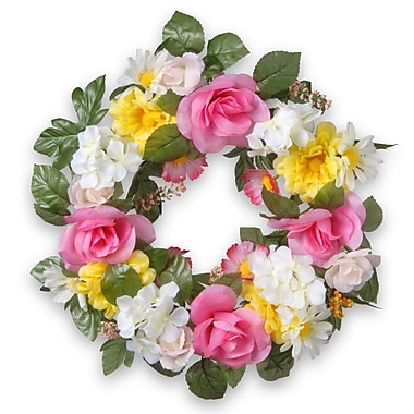 National Tree Co. 18'' Fabric Floral Wreath