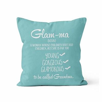 Kalilaine Creation Glamma Throw Pillow; 16'' H x 16'' W x 3'' D