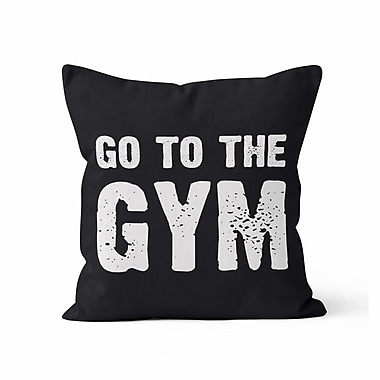 Kalilaine Creation Go to the Gym Throw Pillow; 16'' H x 16'' W x 3'' D