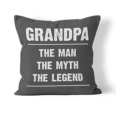 Kalilaine Creation Grandpa Throw Pillow; 16'' H x 16'' W x 3'' D