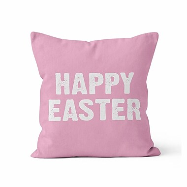 Kalilaine Creation Happy Easter Throw Pillow; 20'' H x 20'' W x 3'' D