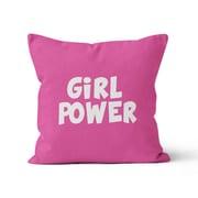 Kalilaine Creation Girl Power Throw Pillow; 20'' H x 20'' W x 3'' D