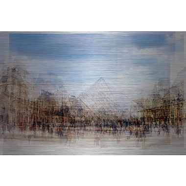 Marmont Hill ''Place Des Artistes'' Painting Print on Brushed Aluminum; 16'' H x 24'' W x 1.5'' D