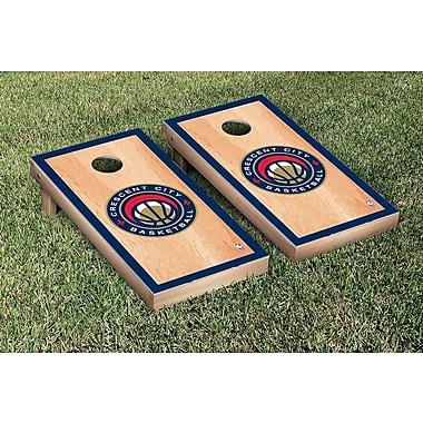 Victory Tailgate NBA Hardcourt Version Cornhole Game Set; New Orleans Pelicans