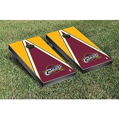 Victory Tailgate NBA Triangle Version Cornhole Game Set; Cleveland Cavaliers