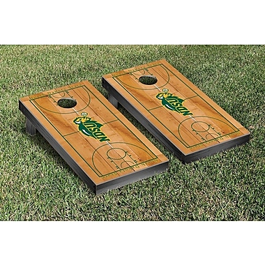 Victory Tailgate NCAA Basketball Wooden Cornhole Game Set; North Dakota State Bisons