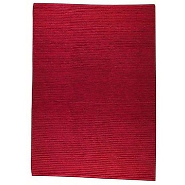 Hokku Designs Manchester Red Area Rug; Rectangle 3' x 5'4''