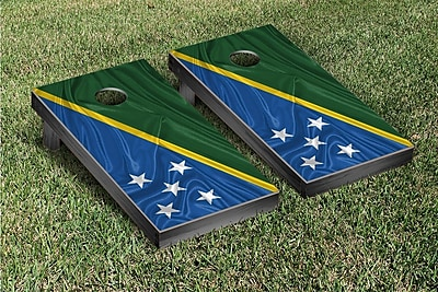 Victory Tailgate Country Rippled Flag Cornhole Game Set; Solomon Islands