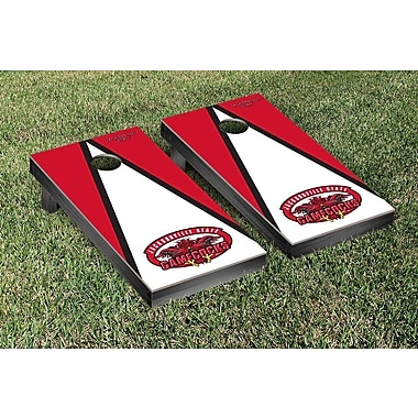 Victory Tailgate NCAA Triangle Wooden Version 1 Cornhole Game Set; Jacksonville State Gamecocks