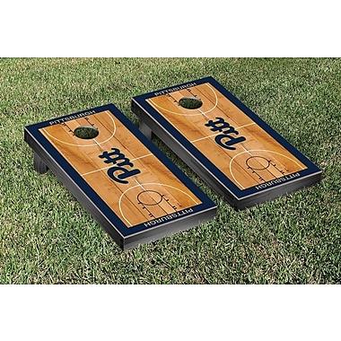 Victory Tailgate NCAA Basketball Court Cornhole Game Set; University of Pittsburgh Panthers
