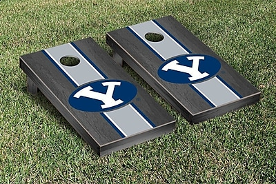 Victory Tailgate NCAA Stained Stripe Version 2 Cornhole Game Set; Brigham Young University Cougars
