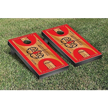 Victory Tailgate NCAA Basketball Wooden Cornhole Game Set; Winston Salem State Rams