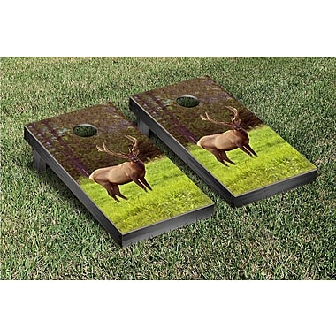 Victory Tailgate Wild Elk Cornhole Bean Bag Toss Game