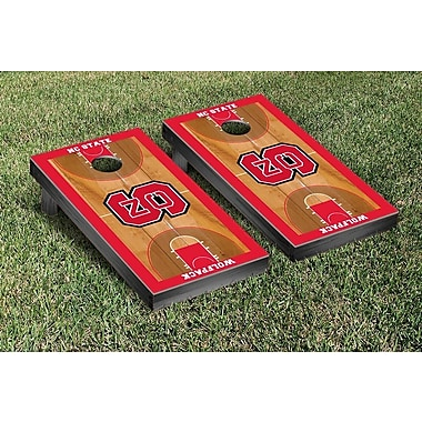 Victory Tailgate NCAA Basketball Version Cornhole Bean Bag Toss Game; North Carolina State Wolfpack