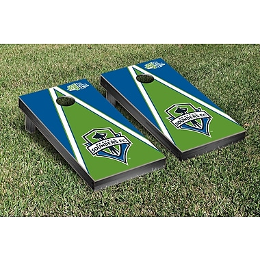 Victory Tailgate MLS Triangle Version Cornhole Game Set; Seattle Sounders Rave Green
