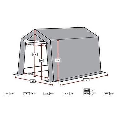 King Canopy Small 7.5 Ft. W x 12 Ft. D Garage