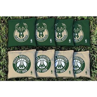 Victory Tailgate NBA Replacement All Weather Cornhole Bag Set; Milwaukee Bucks