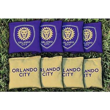 Victory Tailgate MLS Replacement All Weather Cornhole Game Bag Set; Orlando City Lions