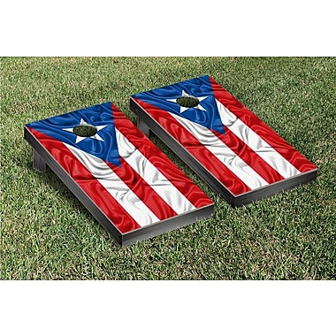 Victory Tailgate Rippled Flag Cornhole Game Set; Puerto Rican