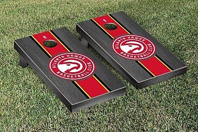 Victory Tailgate NBA Stained Stripe Version Cornhole Game Set; Atlanta Hawks